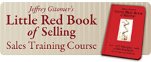 Jeffrey Gitomer's Little Red Book of Selling Sales Training Course